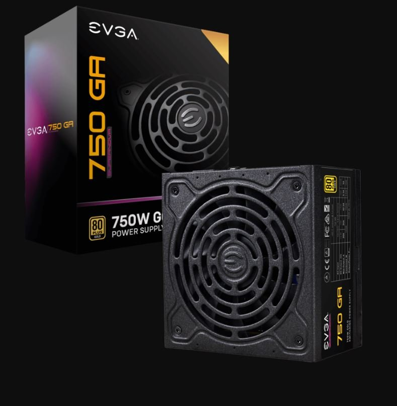 EVGA Power Supply 220-GA-0750-X1 SuperNOVA 750 GA 750W 80+ Gold Fully Modular Retail