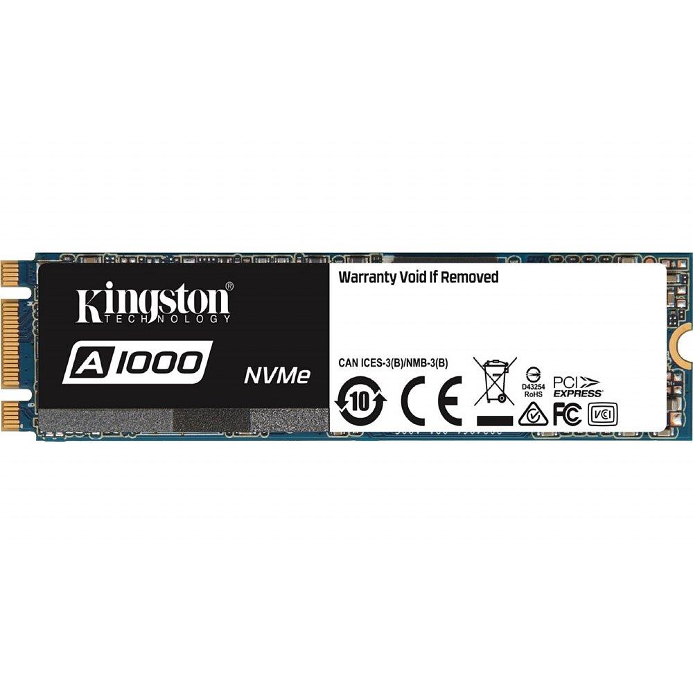 Kingston A1000 240 GB Internal Solid State Drive - PCI Express - M 2 2280  NVMe SA1000M8/240G