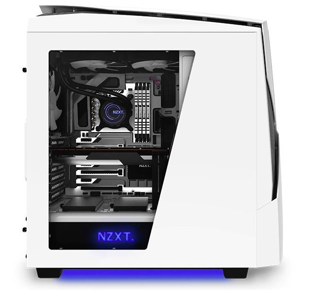Open Box Nzxt Ca N450w M1 Noctis 450 Glossy White Blue Led Mid