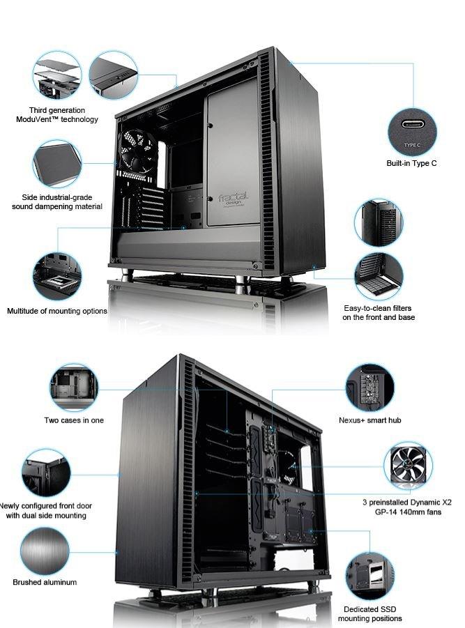 Video Editing PC i9 9900KF to 5 0Ghz 8 Core, RTX 4000, 64GB RAM, 1TB NVMe  SSD, 2TB HDD, Win 10 Pro, Fractal Design R6 USB-C