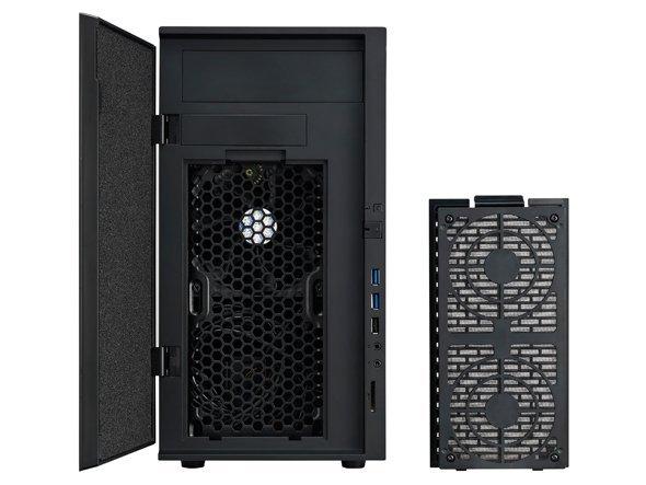 Cooler Master N200 System Cabinet Mini Tower Midnight Black Steel Plastic 6 X Bay 2 X Fan S Installed Micro Atx Mini Itx
