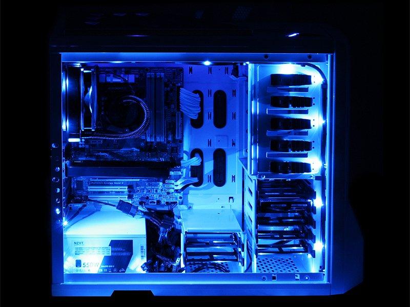 sc 1 st  CPU Solutions & NZXT CB-LED10-BU 1-Metre Light Sensitivity Sleeved LED Kit Blue