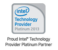 Proud Intel� Technology Provider Platinum Partner